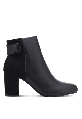 Something Borrowed black Contrast Ankle Boots A1257SHAE7956AGS_1