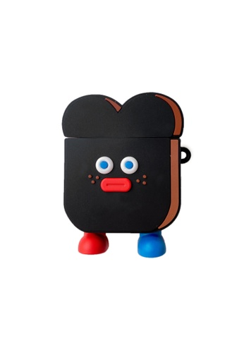 Kings Collection black Black Toast Airpods Case (KCAC2093) 6426FAC604478CGS_1