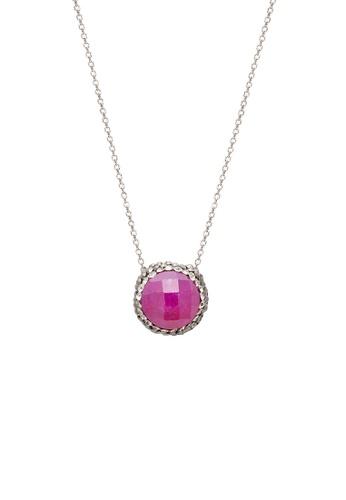 Fervor Montreal pink Fervor Montreal-Druzy Necklace Round A4011AC87E76C9GS_1