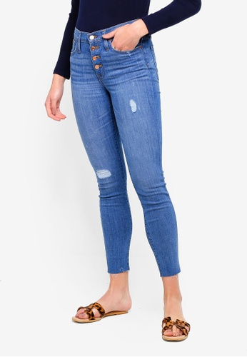 J.Crew blue 9 Inch High Rise Toothpick Jeans A8462AAB795BB2GS_1