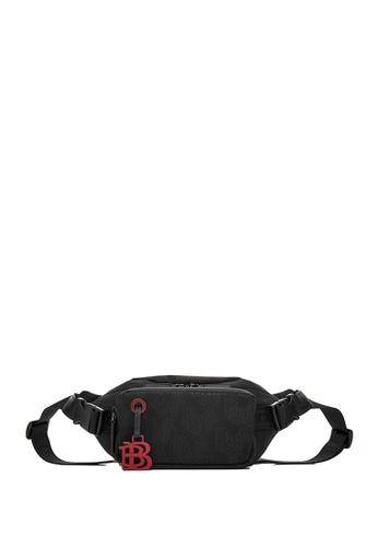 BONIA black Black Mantra Buckled Waist Pouch C9684AC271A2A6GS_1