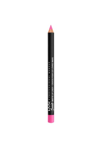 NYX Professional Makeup pink NYX Professional Makeup Suede Matte Lip Liner - SMLL  61 - ELECTROSHOCK D778ABE3A1FDFEGS_1