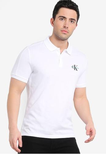 7e4f21edf Calvin Klein white Color Block Slim Polo Shirt - Calvin Klein Jeans  F30DBAAE214940GS_1