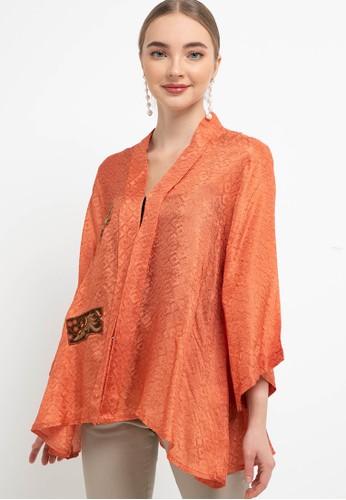 Batik First orange Blouse Kebaya LINDA+Aplikasi BatikNeci 11453AA6A26230GS_1