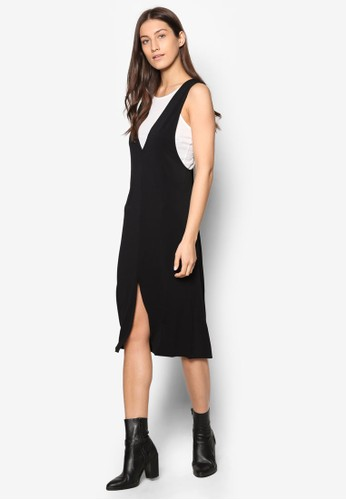 Besprit香港分店ave 撞色無袖洋裝, 服飾, 洋裝