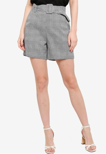 ZALORA WORK multi Belted Shorts BA35AAA8B5F1CAGS_1