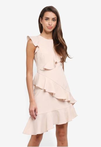 f71c7cec9f Ruffled Crepe Short Dress