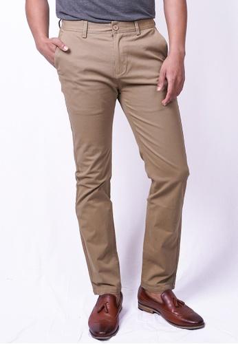 MILANO brown Milano Chino Long Pants Straight B9036AAF4D2D8EGS_1