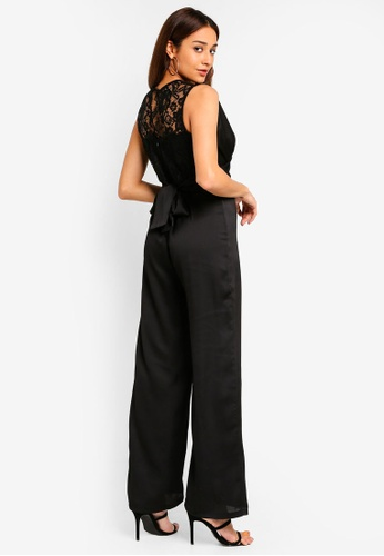 TFNC black Nyra Lace Jumpsuit 5A9E8AAE6BAE7FGS_1