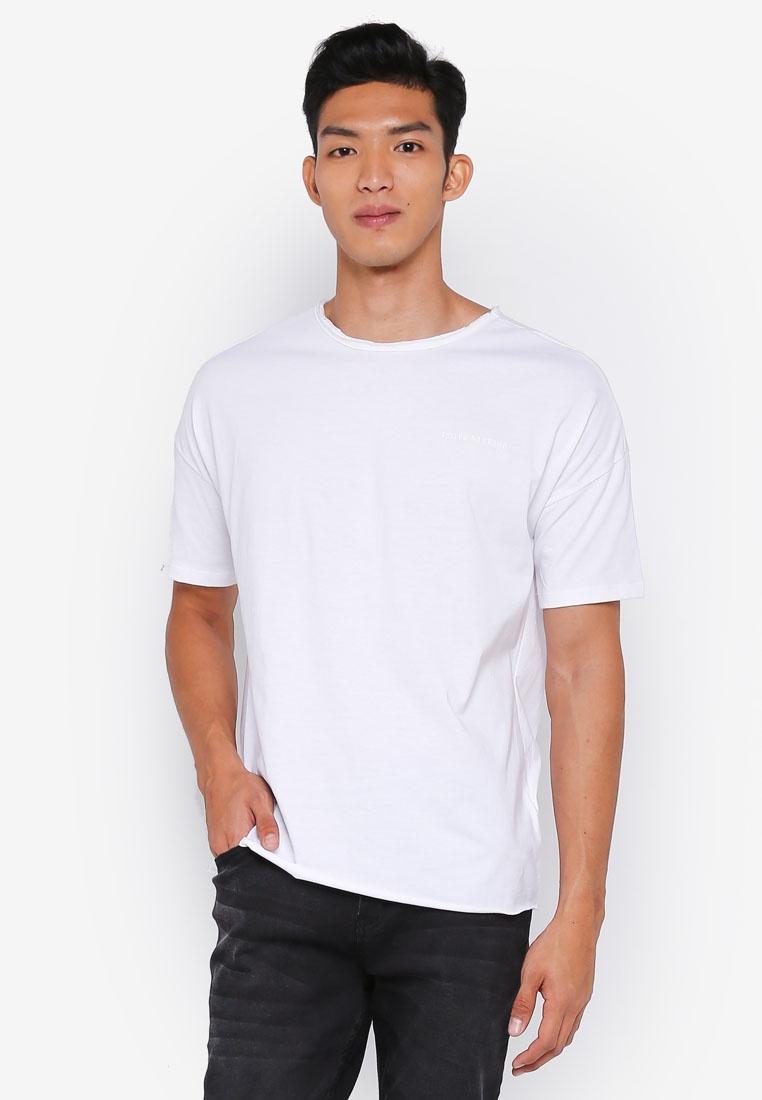 Shirt Finished White Penshoppe Boxy Raw T SFdqXt