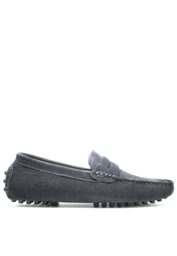 Twenty Eight Shoes 灰色 真牛猄皮休閒帆船鞋MC024 5650FSH7BE80D7GS_1