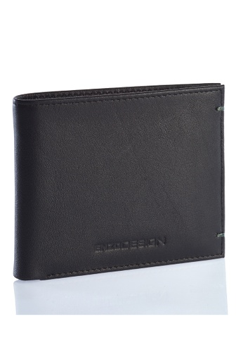 ENZODESIGN black and green Ultra Soft Cow Leather Wallet With Removable Card Horder EN357AC0FI66SG_1
