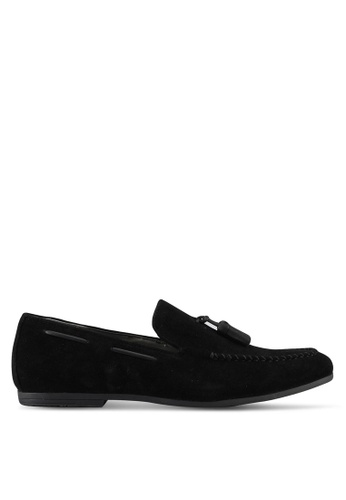 Burton Menswear London black Suede Look Tassel Loafers C1DD5SH95F04D8GS_1