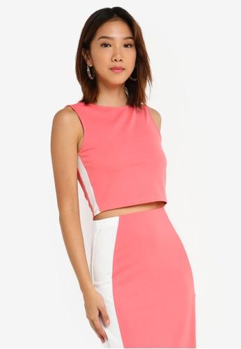 Something Borrowed 粉紅色 側滾邊短版上衣 F8321AA102A8A9GS_1
