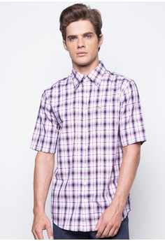 Cotton Gingham Check Plaid Twill Weave Shirt