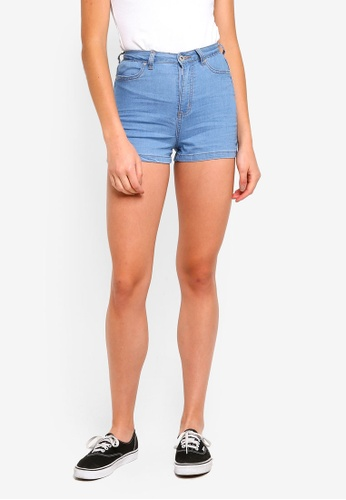 Factorie blue Denim Stretch Shorts 79F8EAAF33C140GS_1