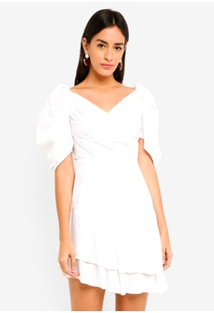 505f831b9079 MDSCollections white Valerina Ruffled Dress In White 7D443AA05317D2GS_1