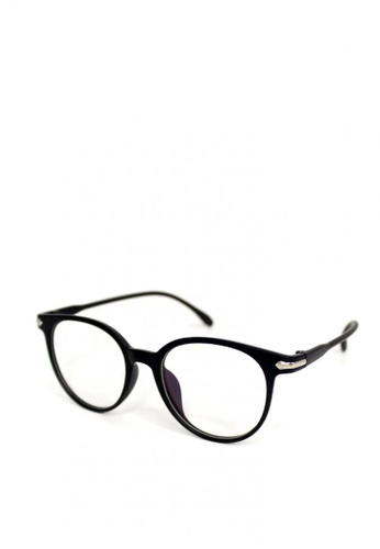 Peculiar and Odd black Peculiar Round 15959 Anti Radiation Replaceable Lens Eyeglass 32770GL9A8F5E9GS_1