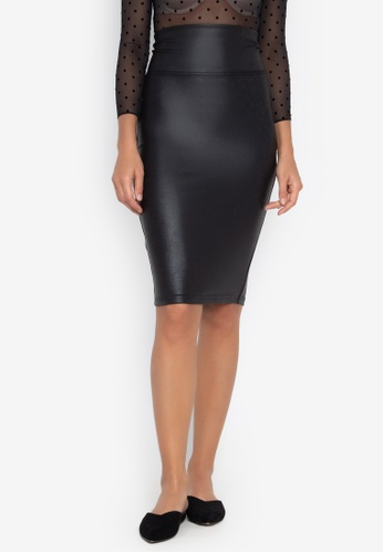 6919bc537 Shop Spanx Faux Leather Pencil Skirt Online on ZALORA Philippines