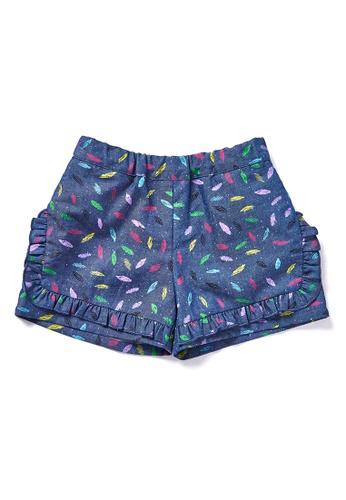 Vauva blue Vauva Hauska Girls Leaves Pattern Shorts 3E000KAF37C3E5GS_1