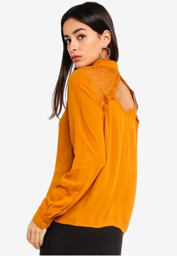 Vero Moda beige Vivi Shirt 56EE4AA7B55320GS_1