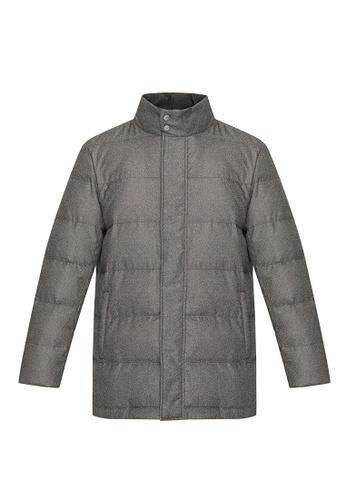 D'urban grey Padded Collarless Down Jacket DBE66AAF1F4BBBGS_1