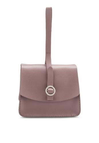 ZALORA pink Long Strap Wristlet Bag A81EDAC9F4E2C5GS_1