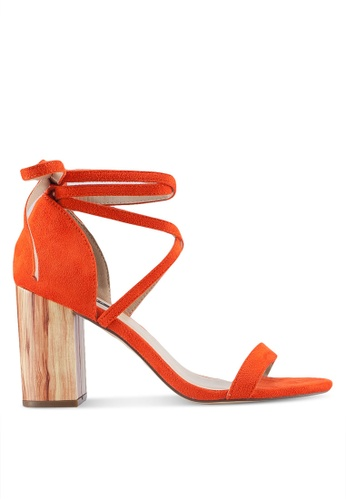 ZALORA orange Unique Heels 519FESH213A94FGS_1