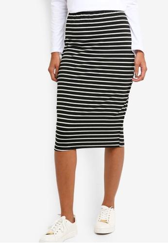ZALORA BASICS black Basic High Waisted Jersey Skirt 04DC2AA7679DFEGS_1