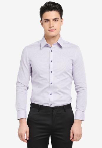 G2000 purple Pattern Long Sleeve Shirt 37BD8AA0806347GS_1