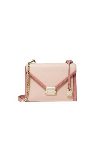 MICHAEL KORS pink Michael Kors Whitney Large Flap Shoulder Bag - Soft Pink/Multi 30H8TWHL3O-612 18E4FAC2B591FFGS_1