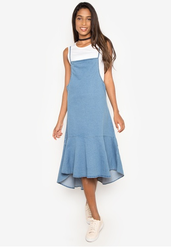 NEXT blue Denim Tank Flowy Dress 9C1D4AA4B56A04GS_1