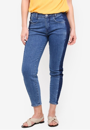 ICHI blue Boy Groto Blue Jeans C545FAAD700918GS_1