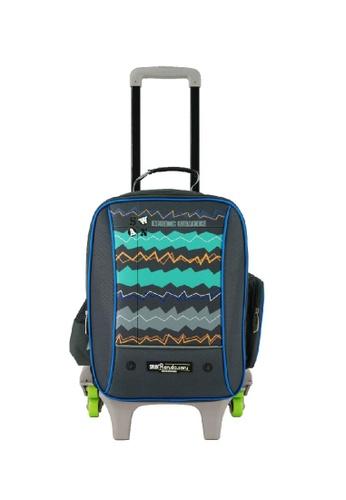 Swan green and blue Swan Starlite Randoseru Trolley Bag 03F17KC9EF3D74GS_1