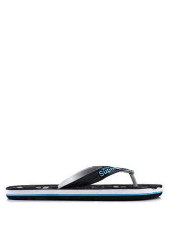Superdry black Scuba Perforated Flip Flops A0921SH87890C7GS_1