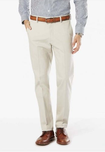 Dockers grey Dockers Signature Stretch Khaki Slim Pants Cloud DO282AA42CTXSG_1