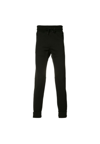 Moncler black Moncler Drawstring Waistband Sweatpants in Black BB7FBAAC573BA3GS_1