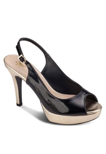露趾厚底繞踝高跟鞋,esprit macau 女鞋, 鞋