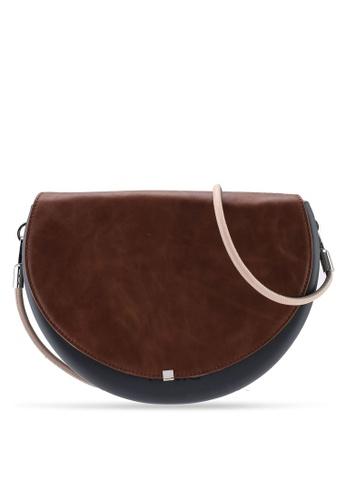 Hoola Hoola grey Chiara Saddle - Lavastone Vintage Leather with Nude & Zinc strap EA0FEACA266615GS_1