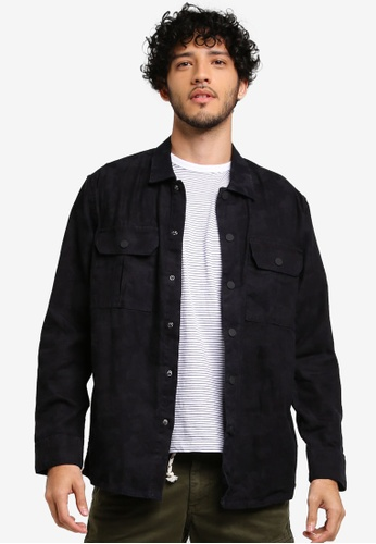 MANGO Man black Regular-Fit Cotton Camouflage Shirt 947EEAAE381CD0GS_1