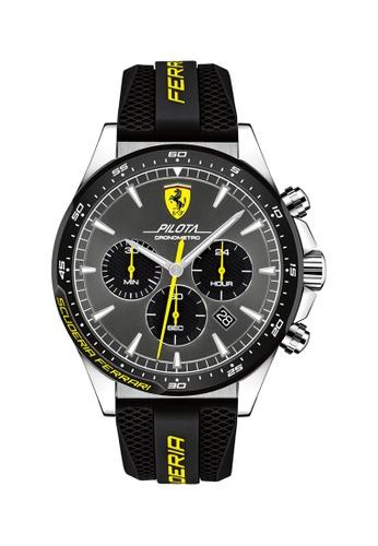 Buy Scuderia Ferrari Scuderia Ferrari Pilota Grey Men S Watch 0830594 Online Zalora Malaysia