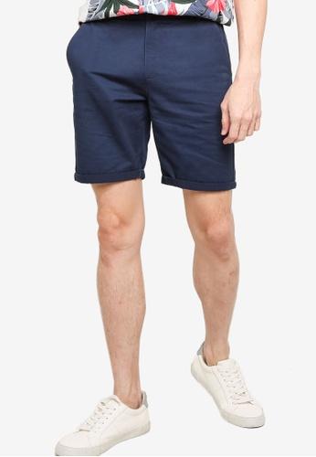 ZALORA BASICS blue Tailored Chino Shorts A952EAA88E5803GS_1