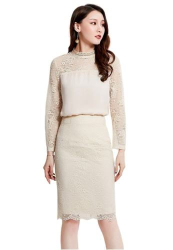 LYCKA white LCC8072 Korean Style Autumn-Winter Lady Lace One Piece Dress-White 904D1AACD003FAGS_1