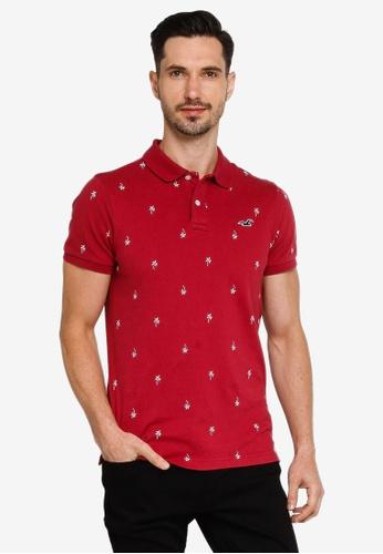 Hollister red Core Polo Shirt CBDA3AA20FE385GS_1