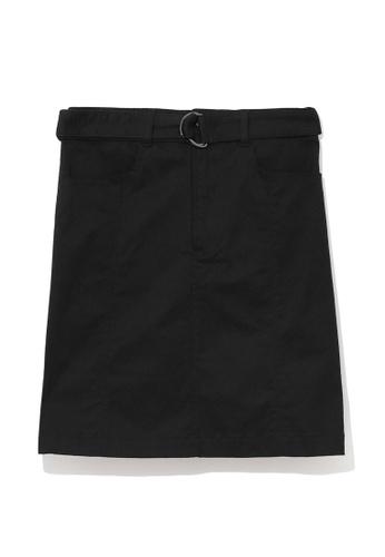b+ab black Belt skirt 5F7FDAA5CC3649GS_1
