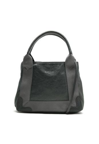 BALENCIAGA grey Balenciaga Navy Cabas Xs Tote Bag in Dark Grey 029F8AC500E8E5GS_1