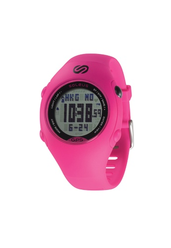 Soleus black and pink Pink/Black Soleus Digital Chronograph Watch GPS Mini SG006-611 SO231AC76JSDMY_1
