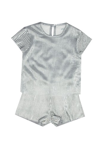 FOX Kids & Baby grey Short Sleeve Playsuit 74432KA4B2A0C6GS_1