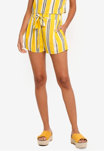 Factorie yellow Paperbag Woven Shorts A2B34AA71167B0GS_1