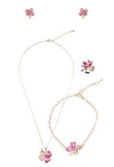 Crystal Clover Jewelry Set